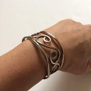 Jewelry - Sterling Silver Scroll Bracelet Bangle Mexico